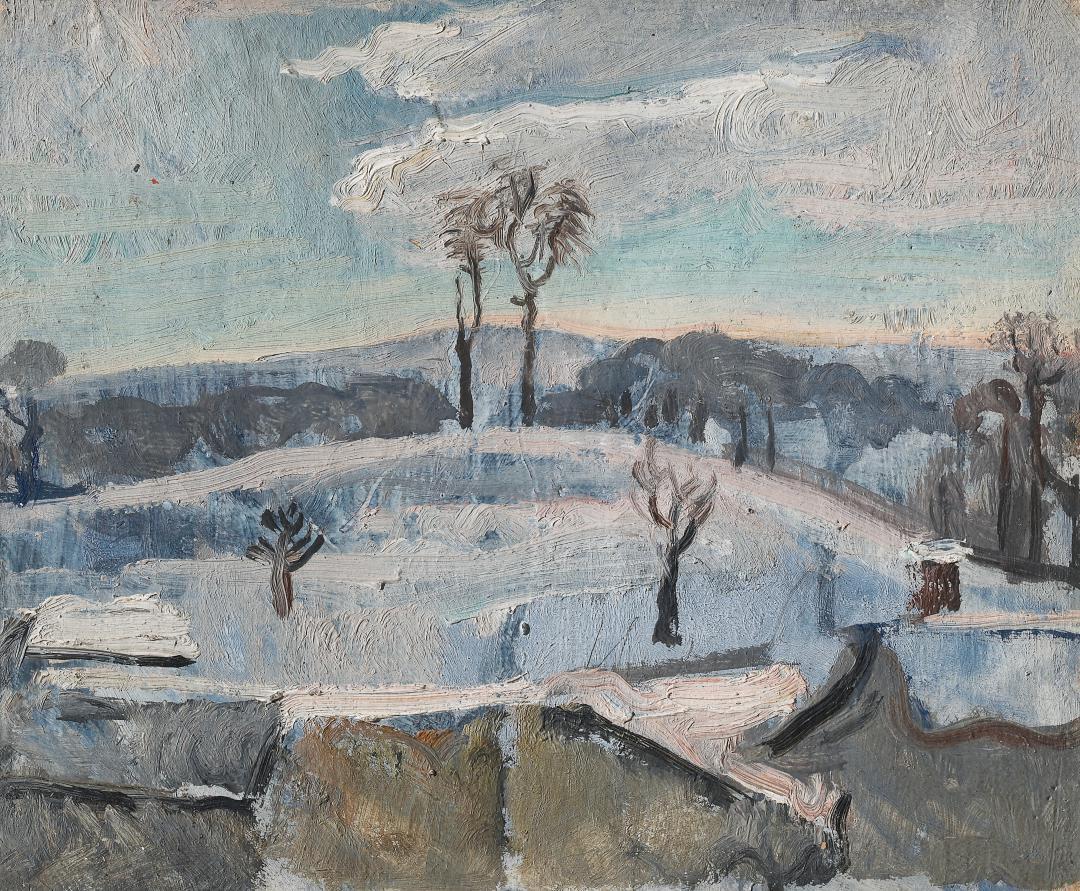 Il calvario con la neve