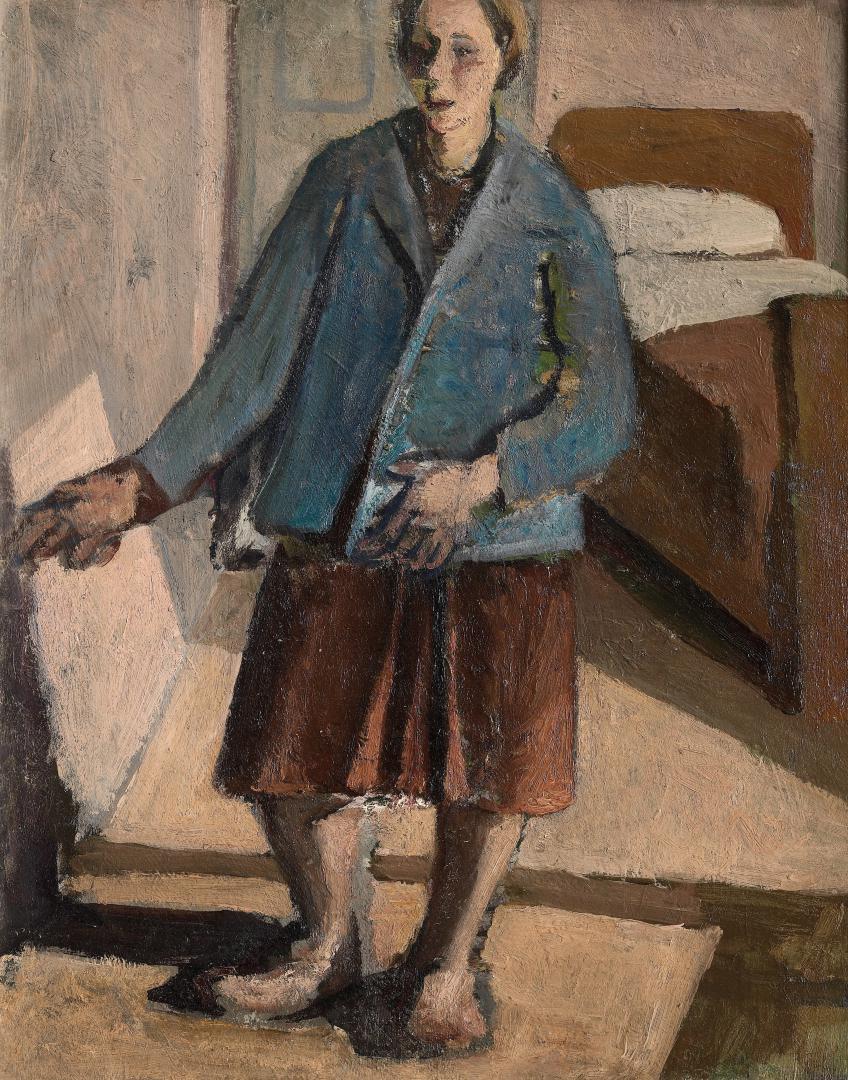 Figura in un interno (Autoritratto con la giacca azzurra)