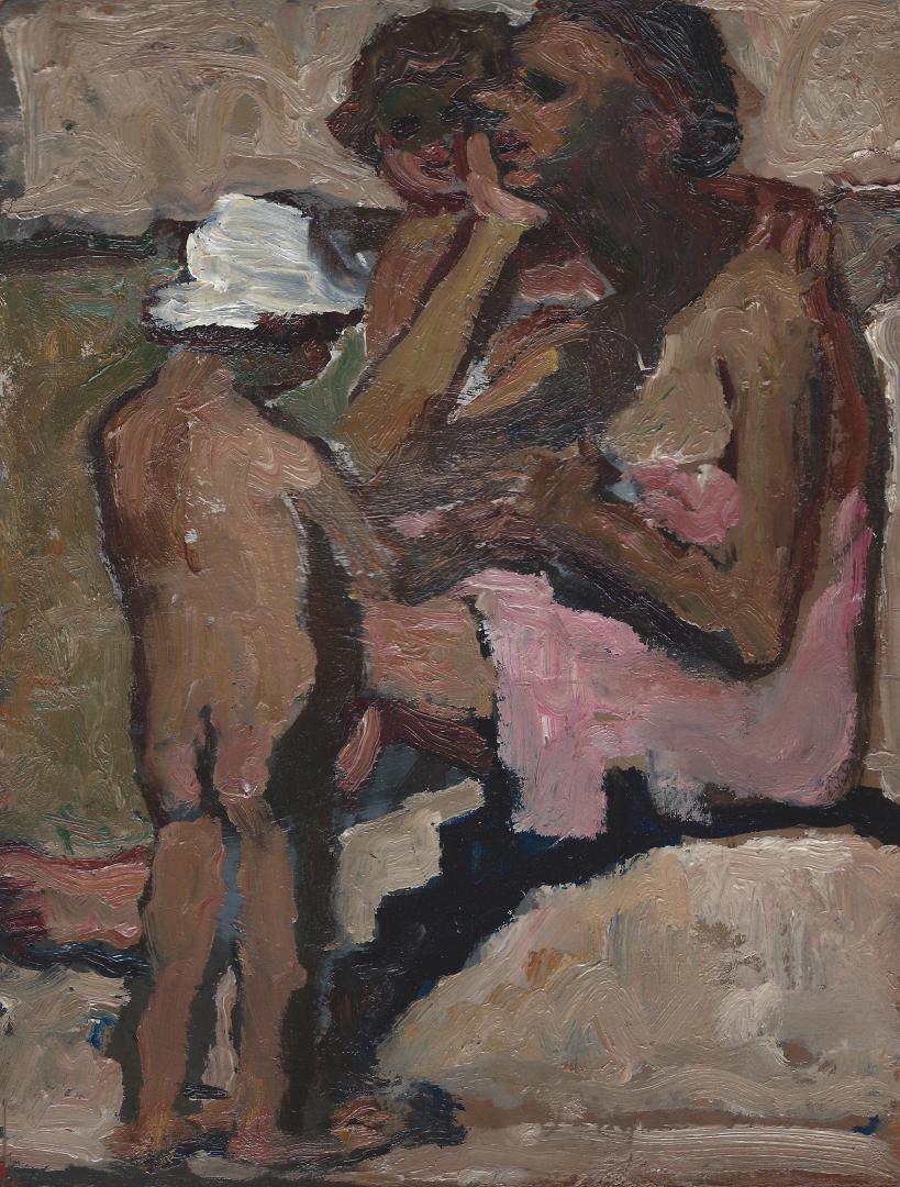 Dadi e i bimbi al fiume