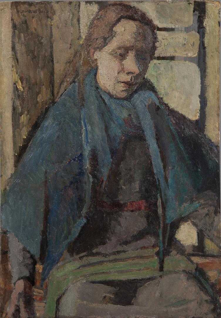 Autoritratto (con lo scialle blu)