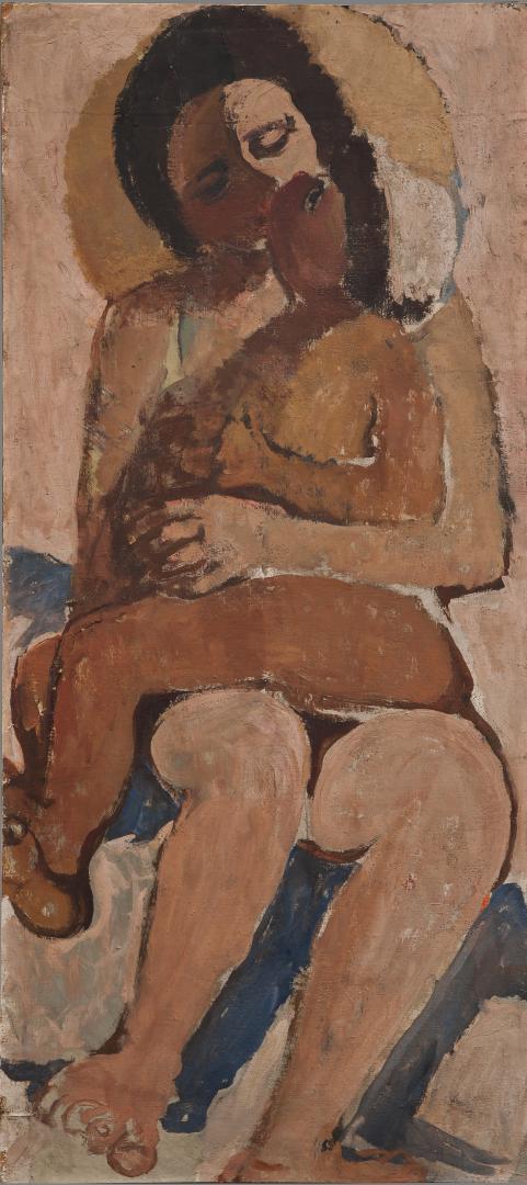 Maternità (ritratto della sorella Dadi col figlio)
