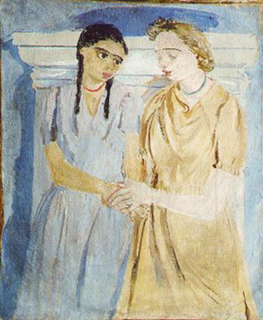 Laura e Peppinella con la collana