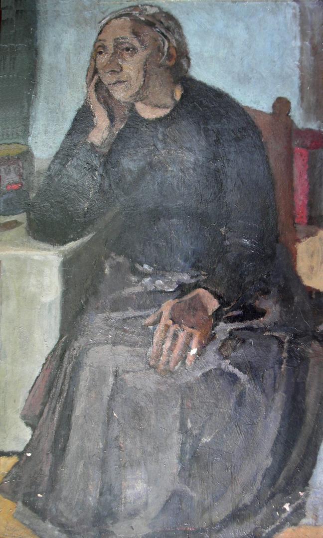 Figura in nero (la madre)