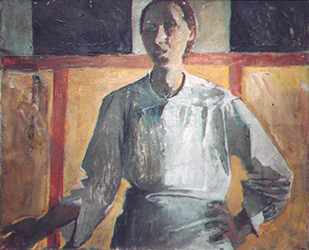 Autoritratto con il paravento giallo