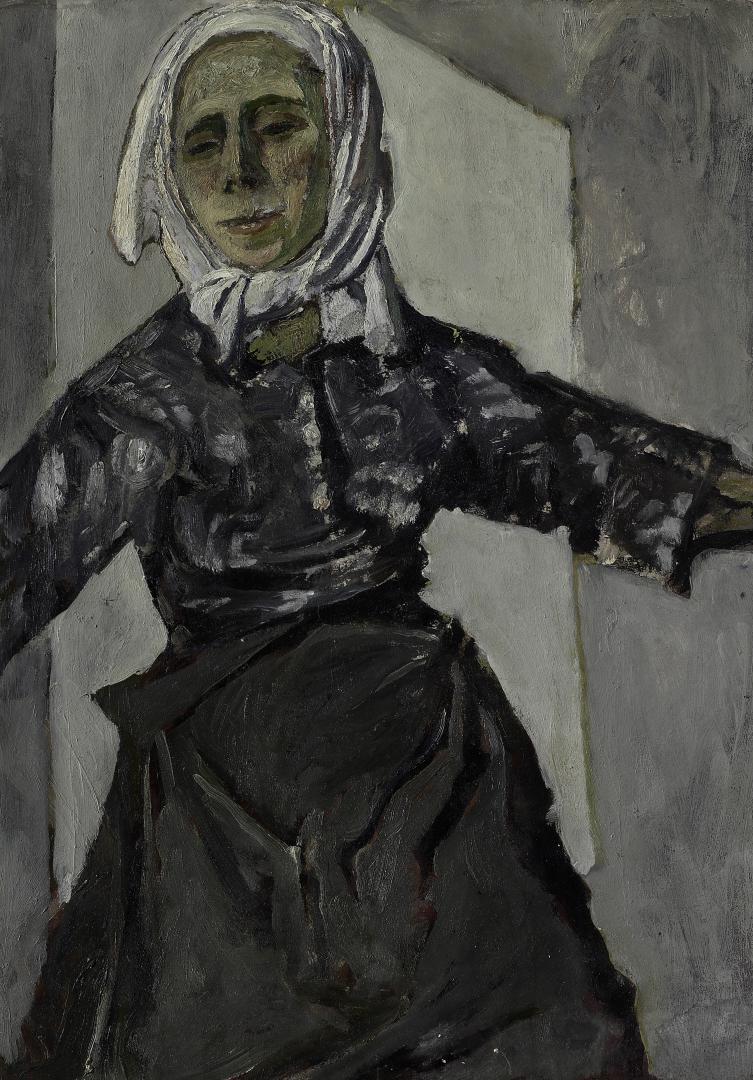 Donna con fazzoletto bianco (Autoritratto)
