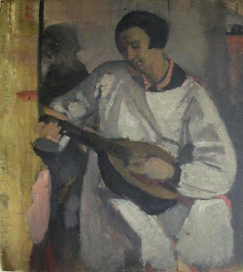 Suonatrice di mandola (la sorella Dadi) o Studio per