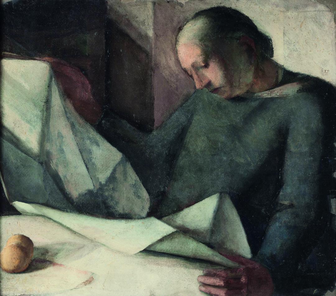 Donna che legge il giornale (La madre)