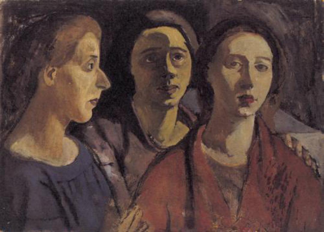 Le sorelle (autoritratto con Dadi e Maria)