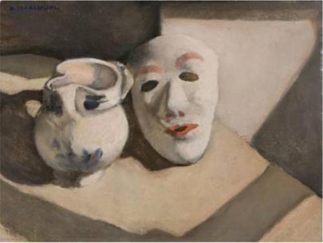 Natura morta con la brocca e la maschera bianca