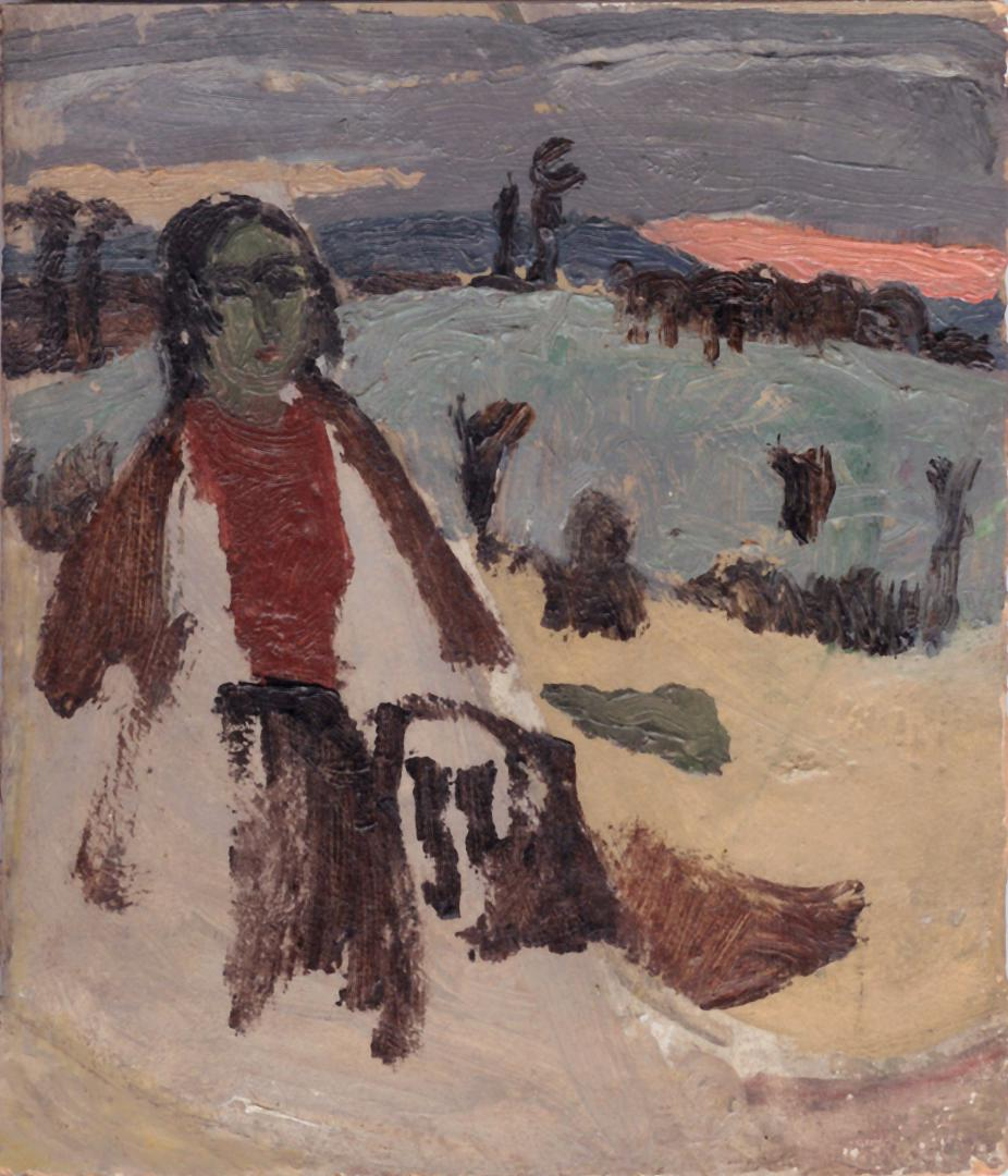 Bambina nella neve (studio)