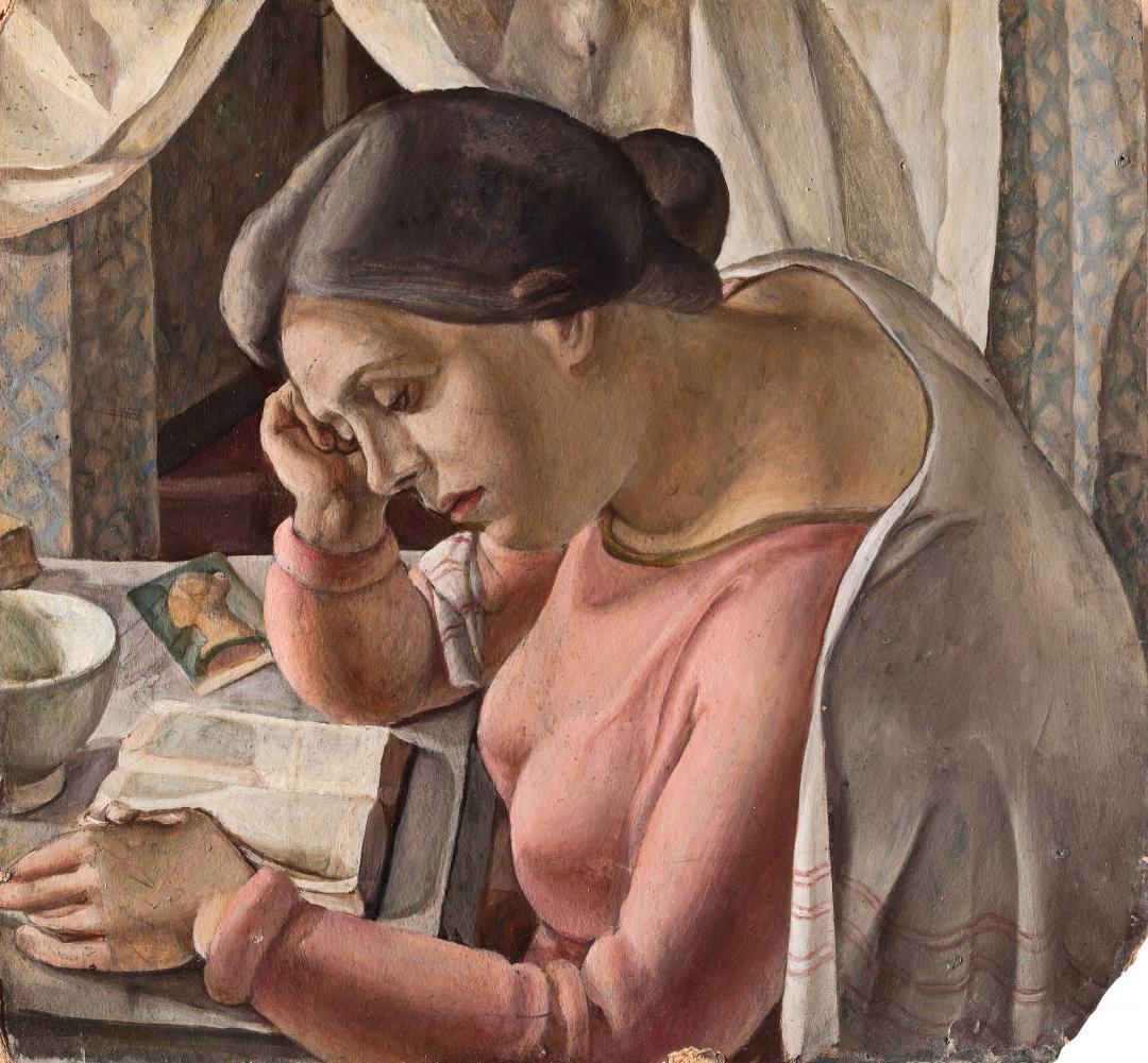 Donna assorta nella lettura