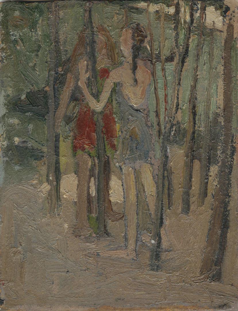 Ragazzine nel bosco
