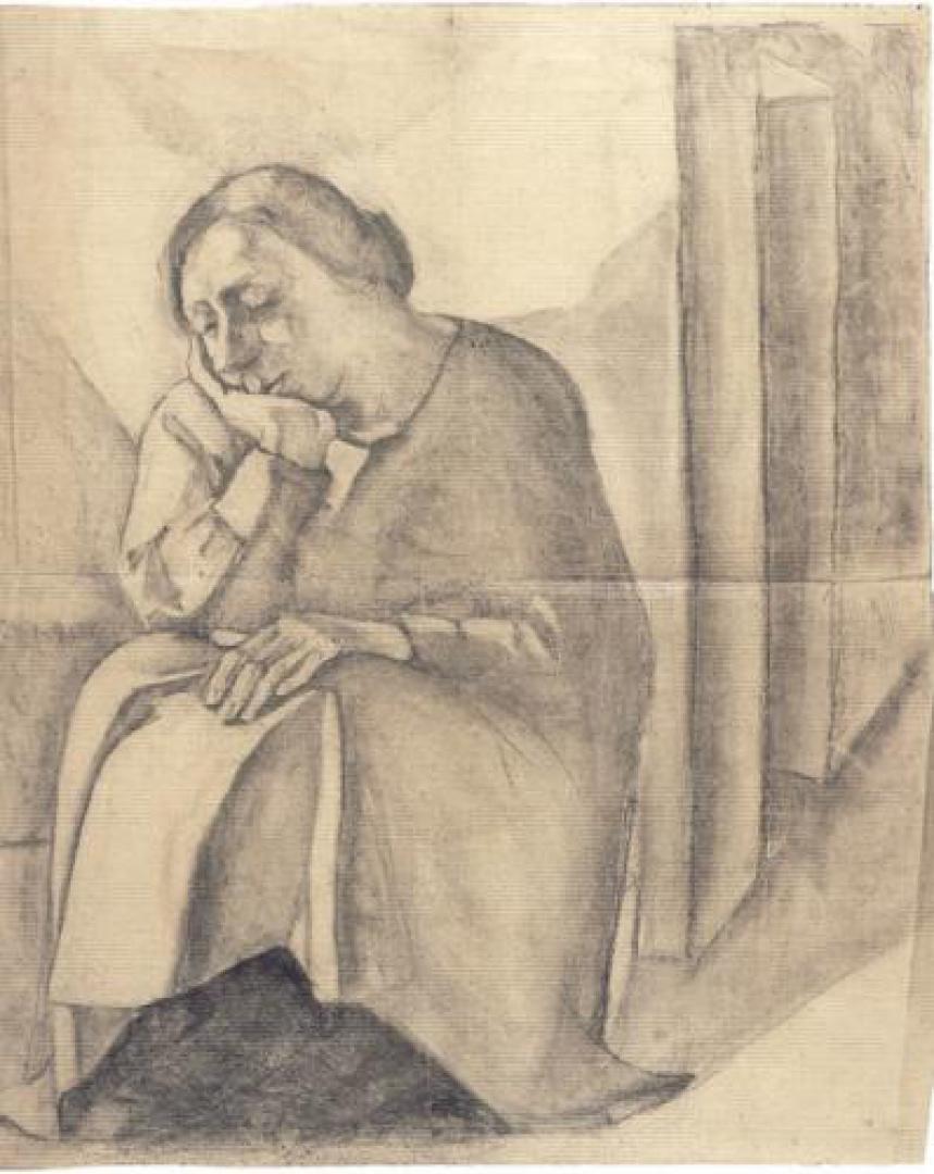 La madre seduta