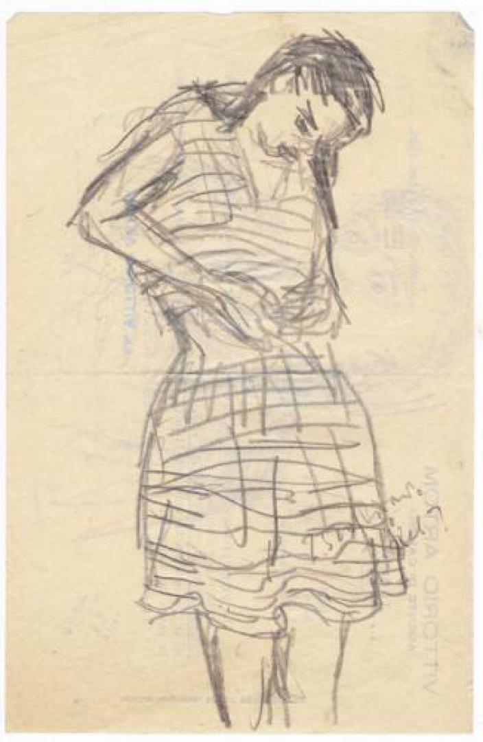 Peppinella col vestito a righe (Studio)
