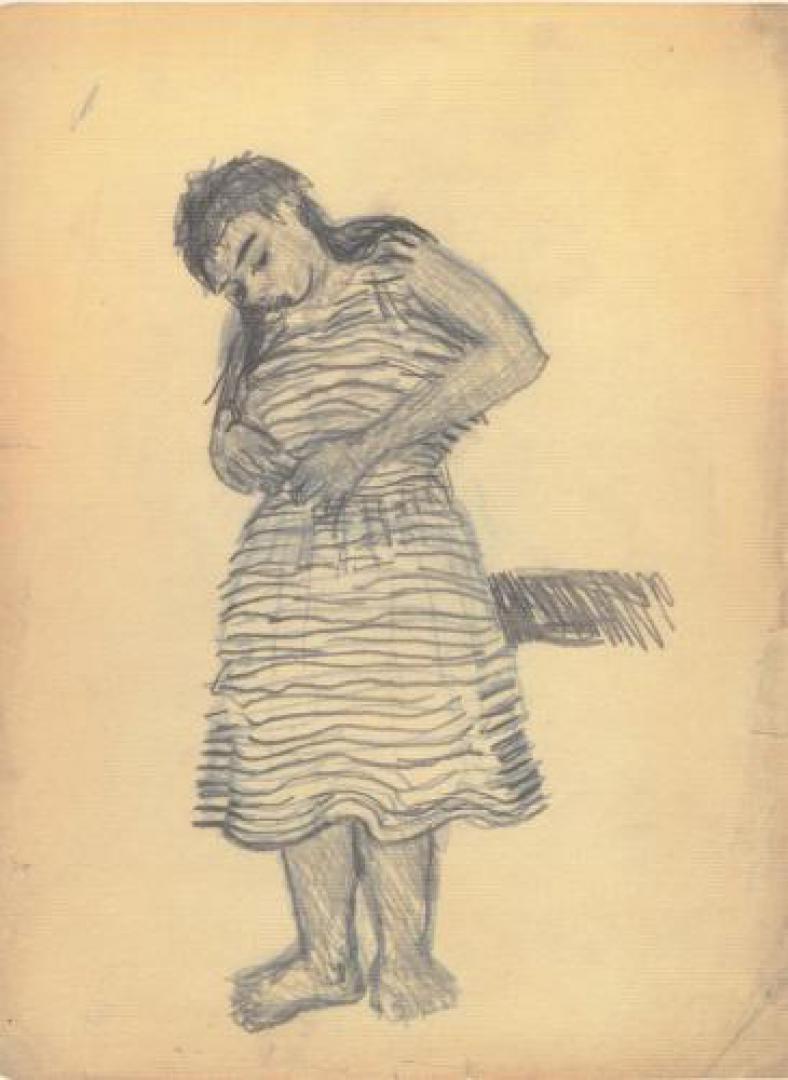 Peppinella col vestito a righe
