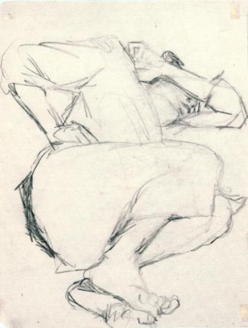 Ragazzo che dorme col braccio posato sul volto (il figlio Renzo)