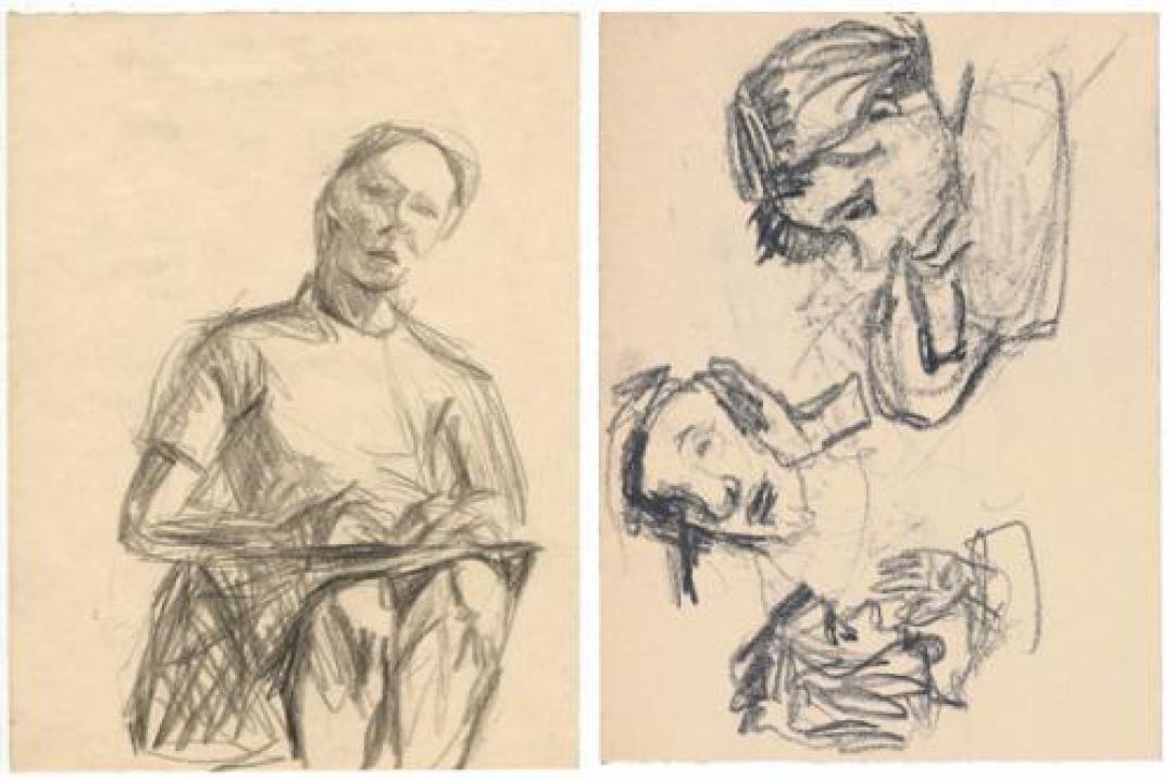 Donna seduta (Autoritratto)