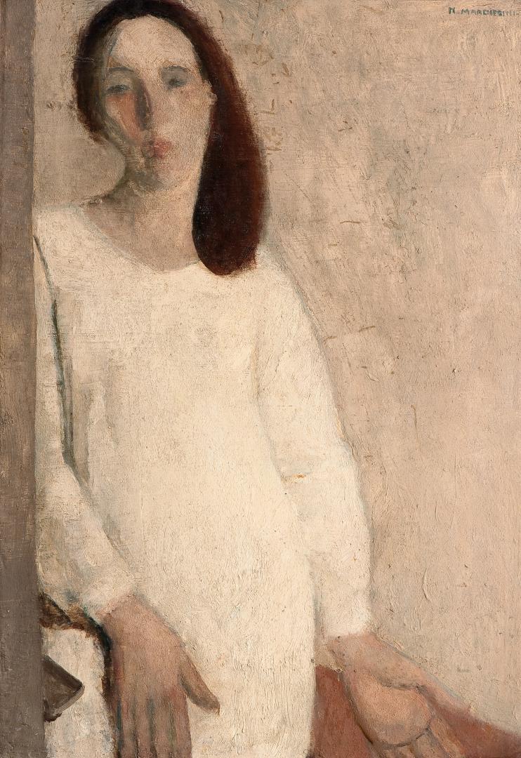 Autoritratto in bianco