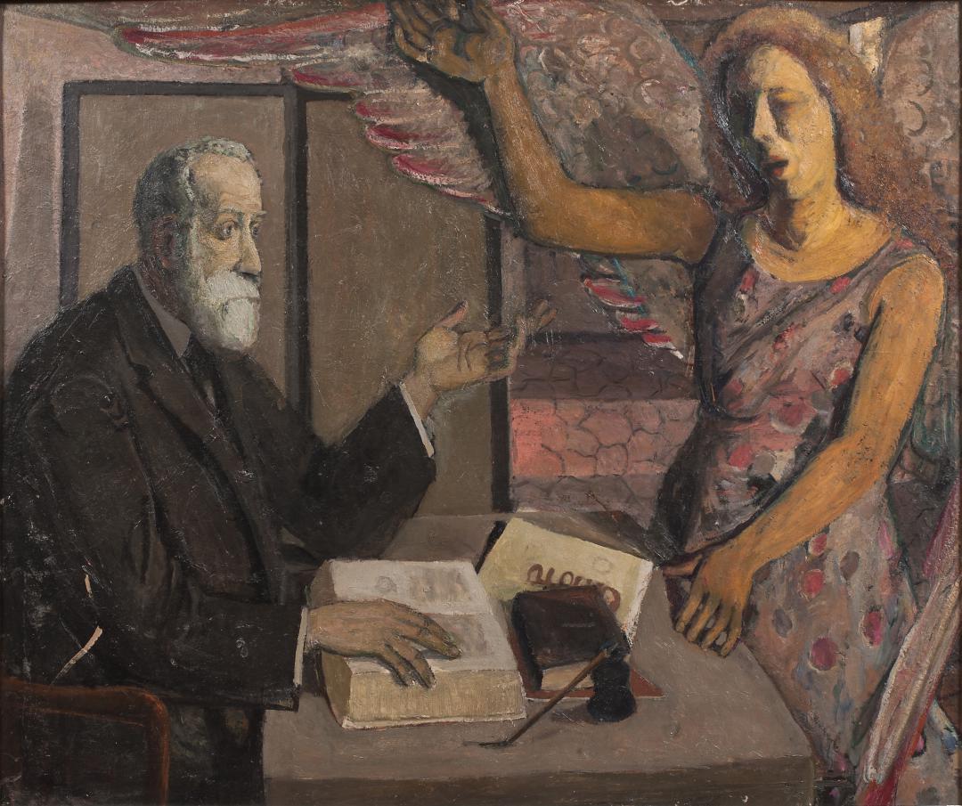 Annunciazione (Autoritratto con la figura del padre)