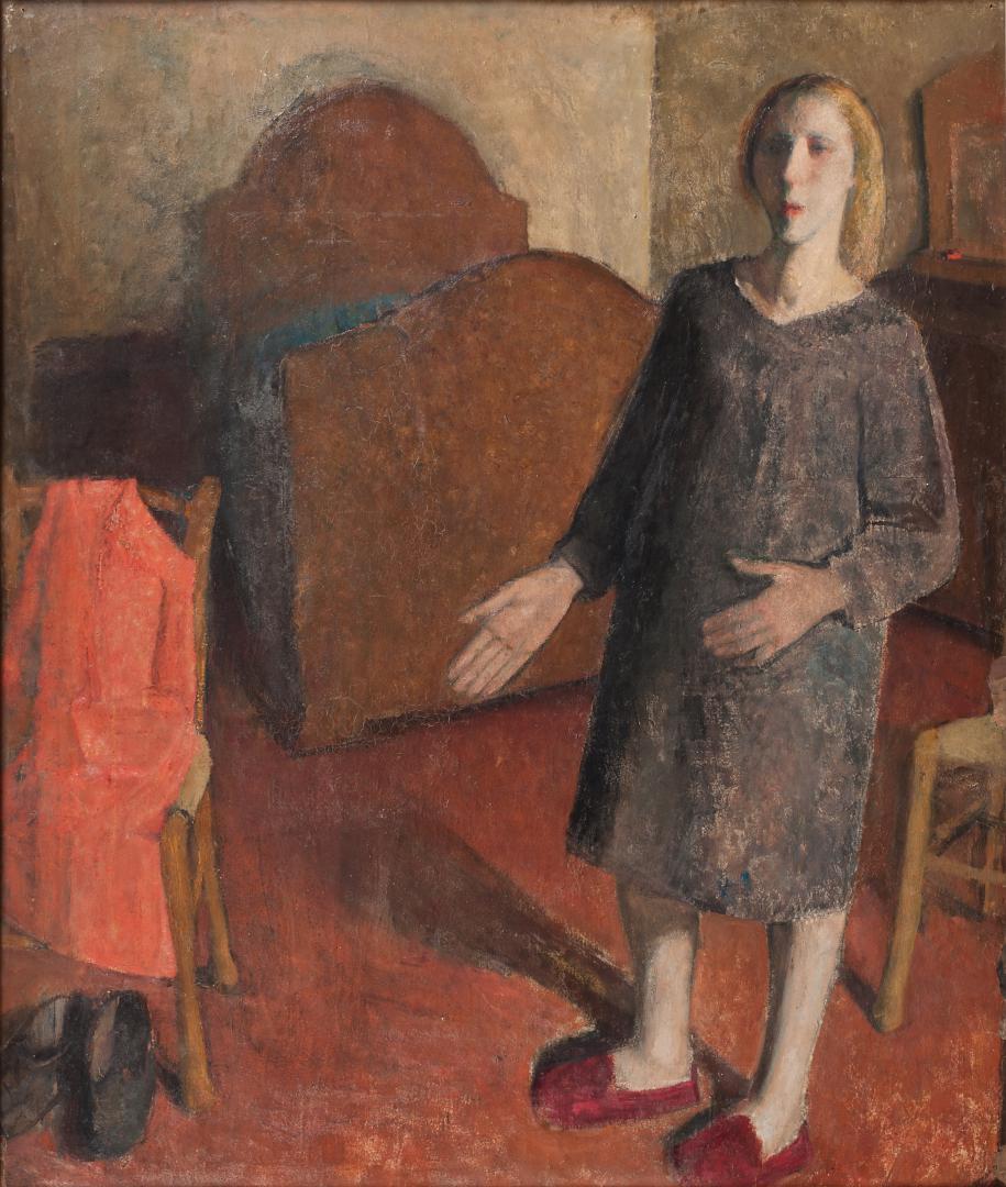 Figura in un interno o Autoritratto nella camera da letto