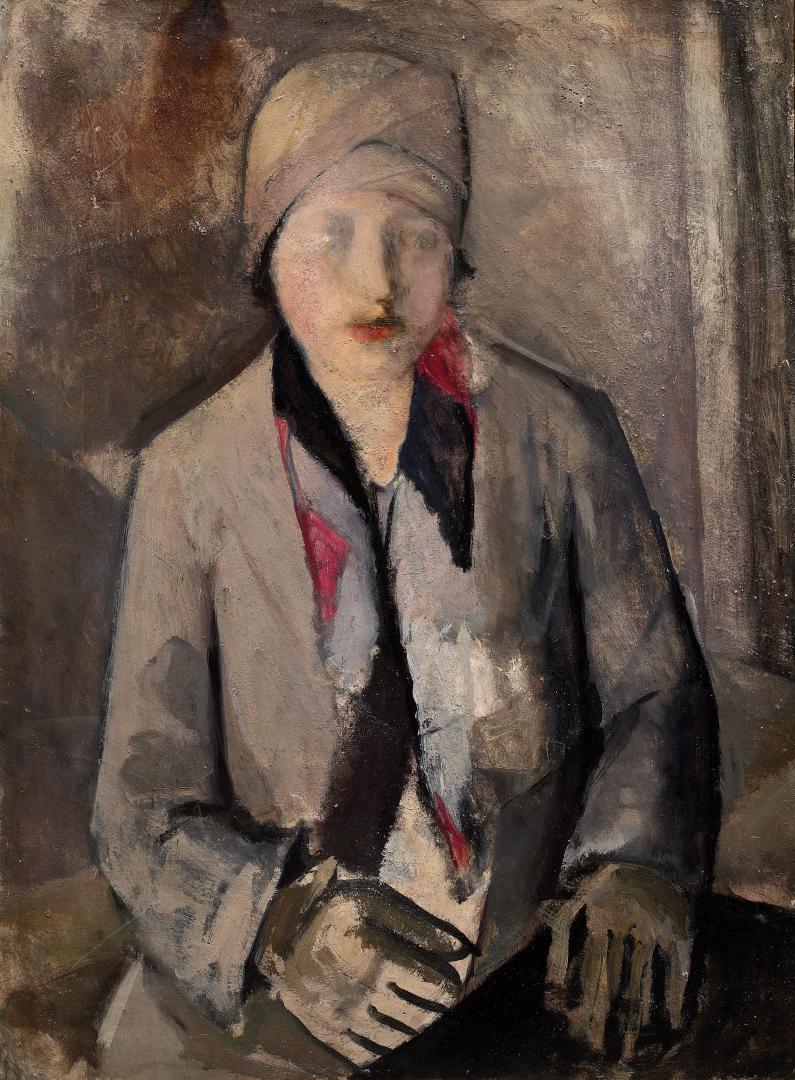 Ritratto di signora con guanti e cappello