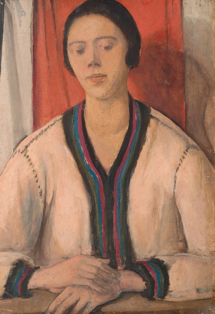 Figura su sfondo rosso (La sorella Dadi)