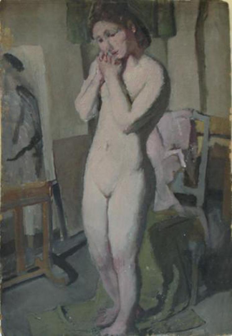 Nudo nello studio