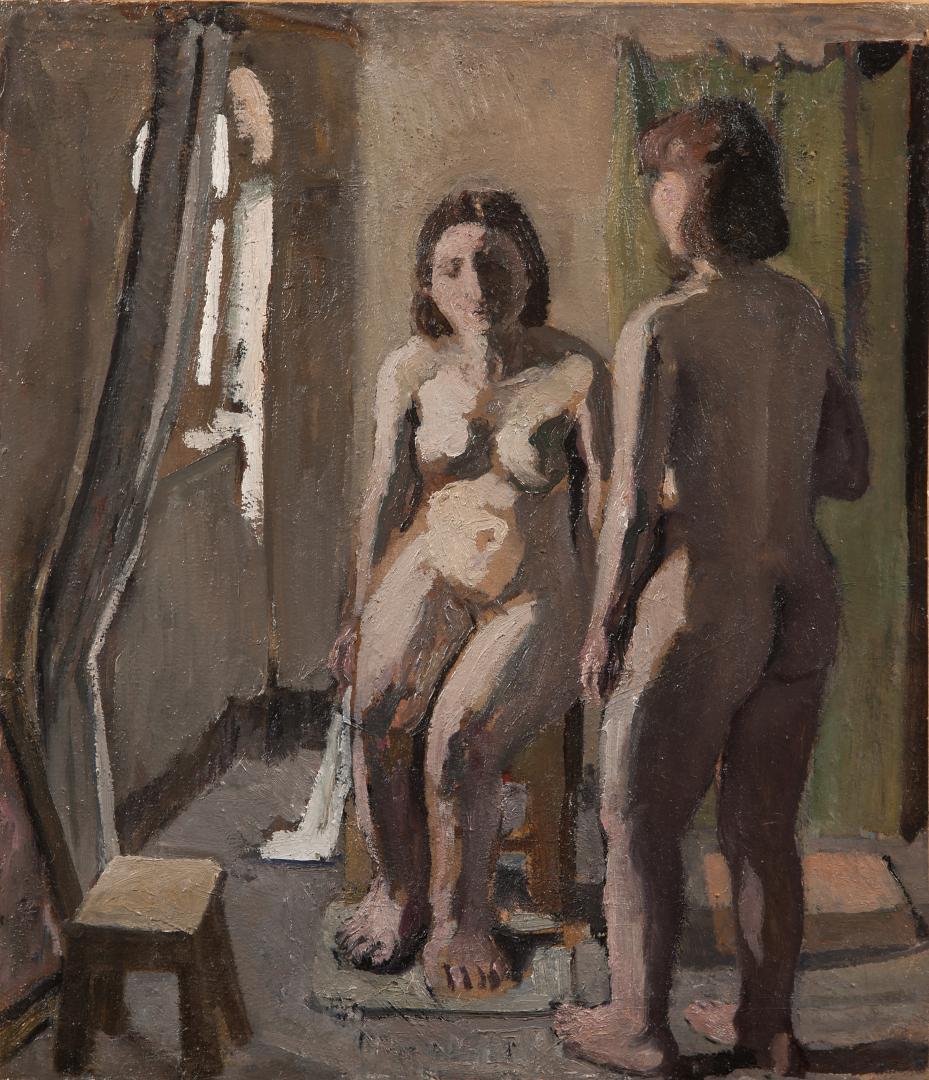 Due nudi nello studio