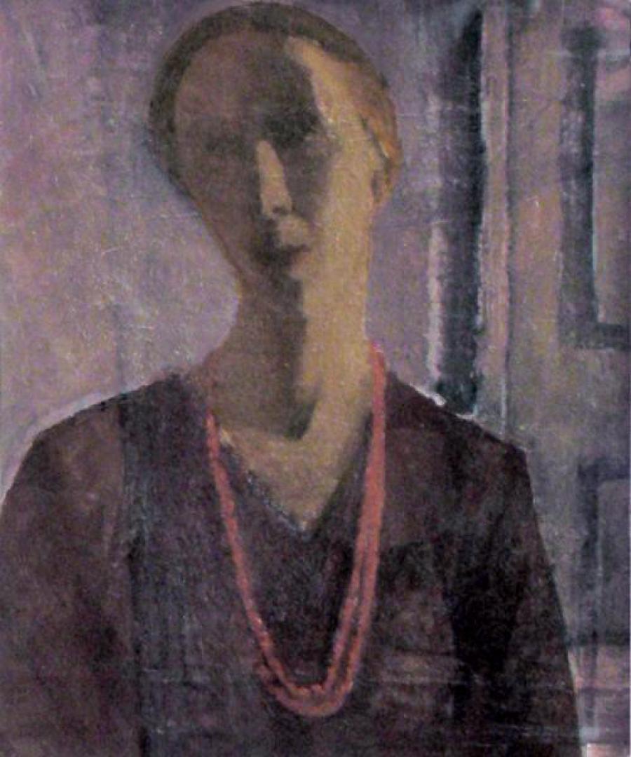Autoritratto con la collana rossa