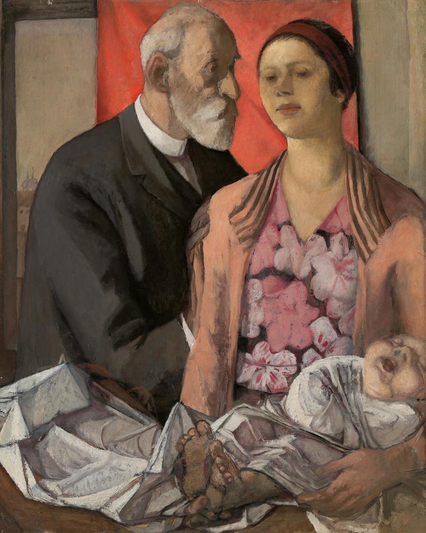 Figure con bambino (il padre e la sorella Dadi)