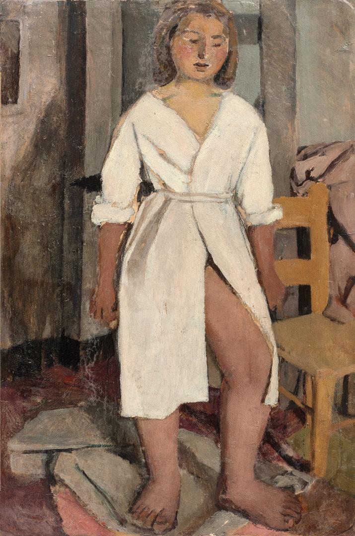 Modella con vestaglia