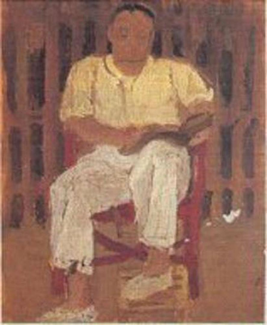 Uomo seduto (Ugo Malvano a Marina di Massa)