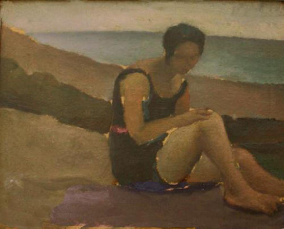 Donna sulla spiaggia (Marina di Massa)