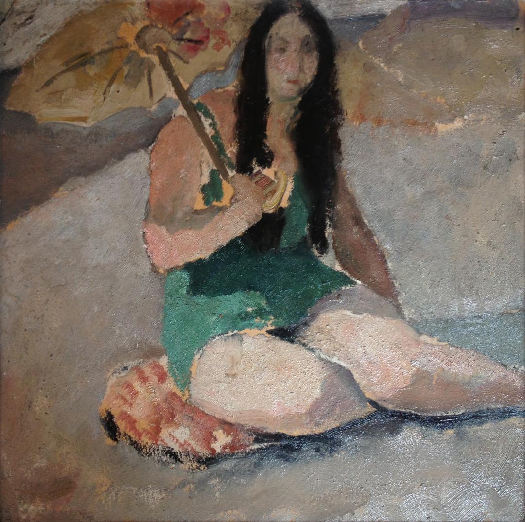 Donna con il parasole