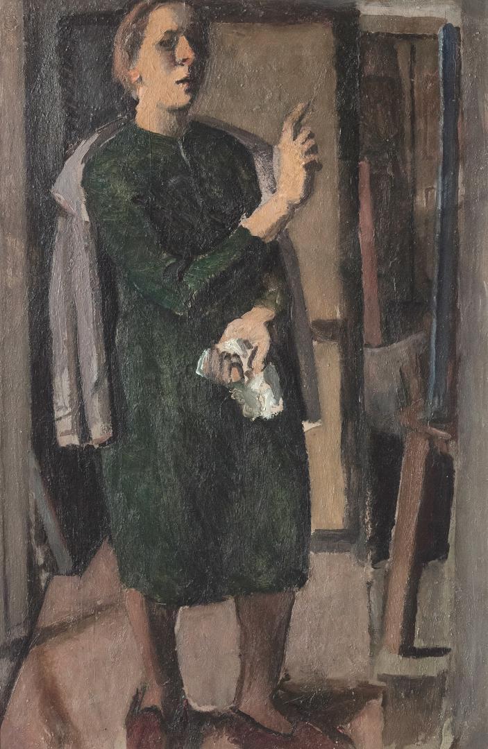 Figura al cavalletto (Autoritratto)