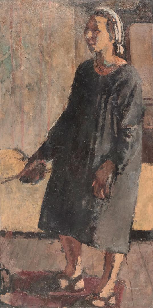 Autoritratto con il grembiule e i pennelli