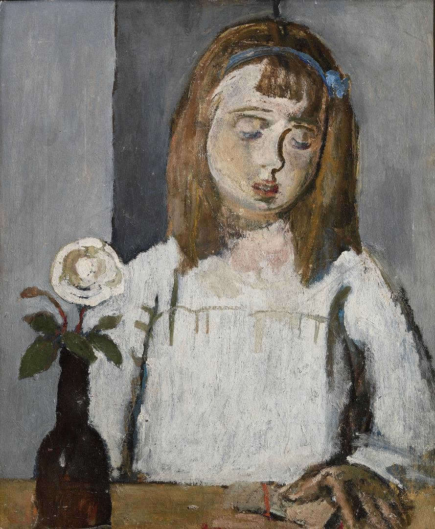 Laura con la rosa
