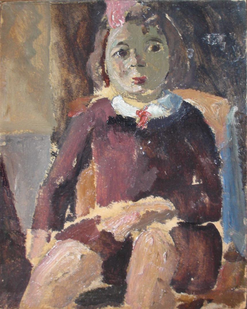 Bambina col fiocco rosa (Anna)