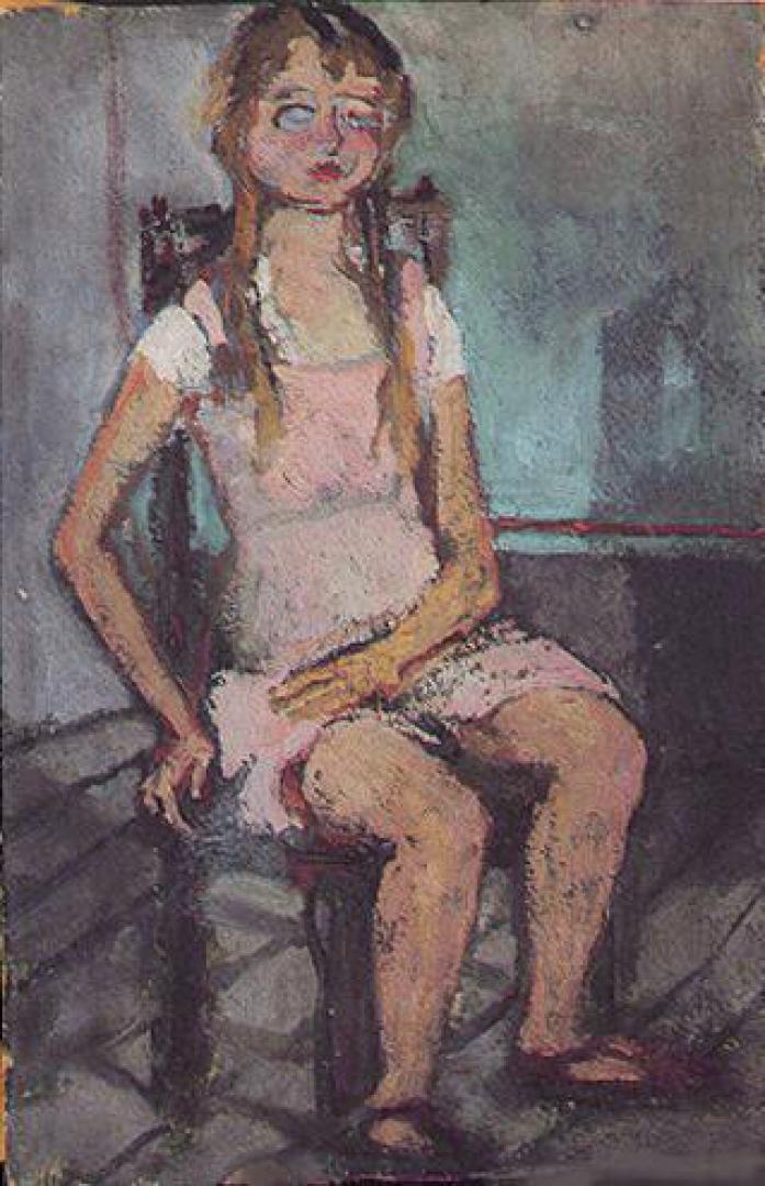 Laura con il vestito rosa