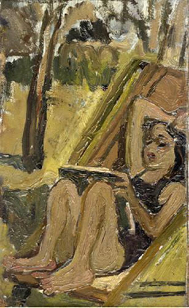 Anna sulla sdraio